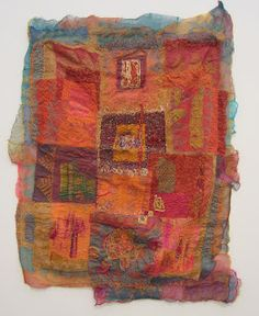 Living to work - Working to live: More photos from Hemmed In: Cube Gallery Textiles, Kantha Stitch, Painted Sticks, Textile Artists, Fiber Art, Fabric Crafts, Needlework, Arts And Crafts, Quilts