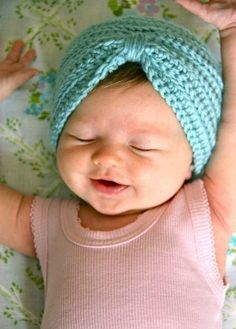 This crochet turban proves you're never too young to rock a trendy headpiece.