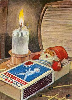 "Elves Faeries Gnomes: ""Efter Julgröten,"" by Trygve Davidsen.Elves Faeries Gnomes: ""Efter Julgröten,"" by Trygve Davidsen. Noel Christmas, Vintage Christmas Cards, Christmas Pictures, Vintage Cards, Winter Christmas, Yule, Norwegian Christmas, Scandinavian Christmas, Elves And Fairies"
