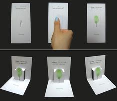 A green fingerprint. Cool idea.