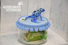 Augenschmaus Kitschdose Pfeilgiftfrosch blau