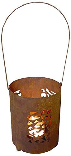H. G. 0892–8 Lantern Steffi Mosaic Sheet Steel with Naturrost Diameter 16 CM