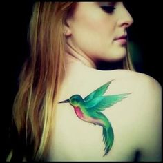 Hummingbird Tattoo Design Idea For Girls                                                                                                                                                      More