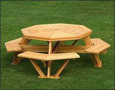 Picnic Table on Pinterest | Octagon Picnic Table, Picnic Tables and ...