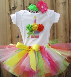 first birthday outfit for little girl, cute!