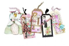 Lots of NEW Prima Tags created by Julie Nutting shown on the Simon  Says Stamp Blog.  March 2014