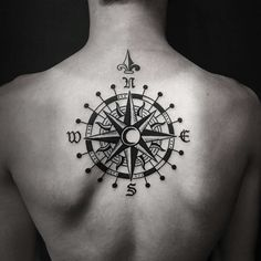 My new tattoo #compass#upperback#tattoo