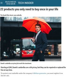 The Davek ELITE seamlessly combines classic elegance with modern, engineered technology and is the perfect fit for both everyday use and formal occasions. Holiday Gift Guide, Holiday Gifts, Wind Resistant Umbrella, Pack And Save, Red Umbrella, Engineering Technology, Beautiful Waterfalls, Classic Elegance, Corporate Gifts