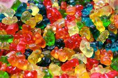 Eat gummy bears soaked in liquor.