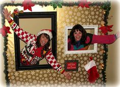 I love this idea - a photo wall for parties of any kind!