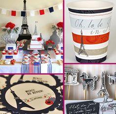 Festa com o tema Paris Paris Birthday Parties, Paris Party, Paris Theme, Paris Rosa, Country Themed Parties, 85th Birthday, Birthday Ideas, Bastille Day, Vintage Carnival