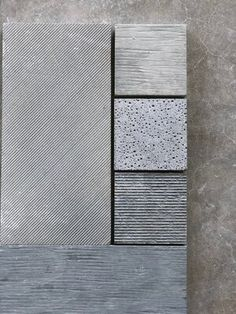 Zuma is a new tile collection from Concrete Collaborative of brutalist inspired concrete textures. Zuma tiles are designed to expose the raw beauty of conc. Concrete Facade, Concrete Texture, Concrete Tiles, Concrete Finishes, Texture Architecture, Paving Pattern, Pattern Concrete, Concrete Materials, Raw Materials
