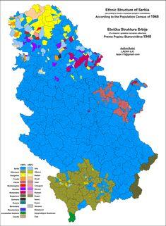 Serbia Ethnic Map 1948