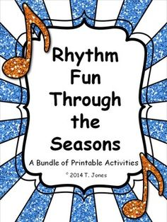 ***SAVE 20% with this BUNDLE!!!***  Music Printables for your music students to assess their knowledge of rhythms as your students progress!  Use as worksheets, assessments, or even substitute plans!  Created by the Totally Tuned-in Teacher, Tina Jones  For a sample, see Freebie - Sweet Rhythms. ***NEWLY UPDATED on 12/30/14 - includes 13 MORE pages in Winter Rhythm Fun!!!