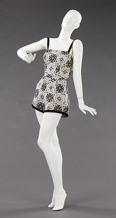 Cotton bathing suit 1955 Carolyn Schnurer (American, born New York, 1908-1998 Palm Beach, Florida) Manufacturer: Textile by Ameritex (American). (hva)