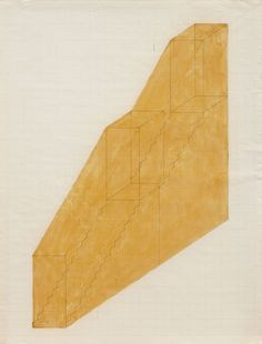 Rachel Whiteread - Untitled (Stairs), 1995  Varnish and ink on graph paper 105 x 80 cm