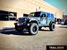 """2016 JK Rubicon outfitted with a JKS 2.5"""" JSpec, KMC Enduro wheels and 35"""" Nitto Trail Grapplers."""