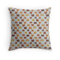 miaow! Throw Pillows, Quilts, Blanket, Illustration, Pattern, House, Home Decor, Toss Pillows, Decoration Home