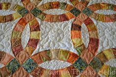 double wedding ring quilt | Thread Head: Double Wedding Ring Quilt