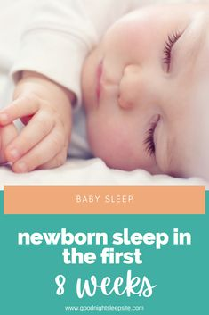 Baby sleep is often a huge source of stress and anxiety for new parents because it is so unlike our own adult sleep, and therefore it can be very hard to understand what is typical for a newborn baby. Here are some things to understand about your newborn's sleep in the first 8 weeks