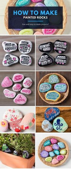 Want to make painted rocks? We have 15 awesome painted rock projects. Click to see all our amazing projects for painted rocks!