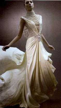 Pearls #wedding-gown