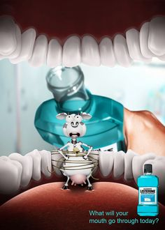 Listerine Mouthwash Mayhem on Behance Visual Advertising, Creative Advertising, Advertising Design, Ads Creative, Creative Posters, Listerine Mouthwash, Storyboard Drawing, Tooth Paste, Medical Posters
