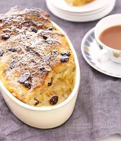 Lots of lovely bread & butter pudding recipes! Panettone pudding with poached peaches? Or how about a praline bread pud with butter chocolate sorbet? Here are our picks for alternative bread puddings just as likely to wow. No Bake Desserts, Just Desserts, Delicious Desserts, Dessert Recipes, Recipes Dinner, Trifle Desserts, Bread And Butter Pudding, Australian Food, Australian Recipes