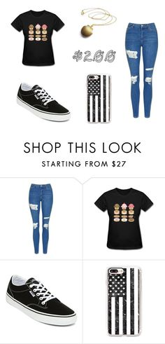 """$200"" by briannacarlyle on Polyvore featuring Topshop, Vans and Casetify"
