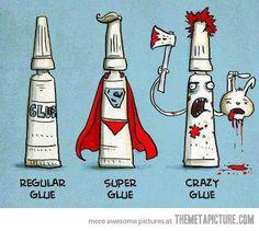 Types of glue…