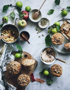 https://flic.kr/p/A4BLb3 | Spiced apple muffins with streusel topping and cinnamon honey butter