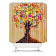 DENY Designs Elizabeth St Hilaire Nelson Summer Tree Polyester Shower Curtain | Wayfair