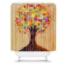 DENY Designs Elizabeth St Hilaire Nelson Summer Tree Polyester Shower Curtain | Wayfair
