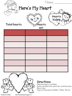 Here's a Valentine's themed activity for working on missing addend problems.