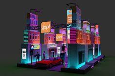 Art Installation Exhibition Booth on Behance Exhibition Stall, Exhibition Booth Design, Exhibition Poster, Exhibit Design, Street Marketing, Guerilla Marketing, Stand Design, Design Design, Event Themes