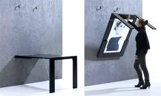 21 best wall mounted dining table images fold away desk desk rh pinterest com