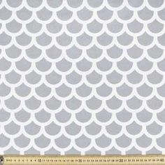 Spots & Stripes Fish Scales Poplin is tightly woven and durable, suitable for adding a creative touch to your next sewing or crafting project.