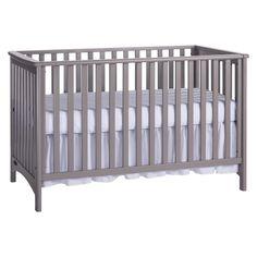 London 3-in-1 Convertible Crib - Cool Gray