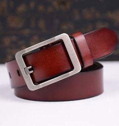 Cinturón Hombre Cuero Belts Leather Genuine Luxury Designer Pin Buckles Cowboys Envío Gratis! Free Shipping!
