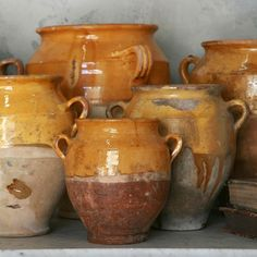 Antique confit pots from Provence.