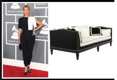 We felt Beyoncé was sub-par in Osman Yousefzada.. This Lillian August couch rocks the black and white trend. #whoworeitbetter Grammys 2013 https://www.facebook.com/photo.php?fbid=326988880754825&set=pb.244961498957564.-2207520000.1390604056.&type=3&theater