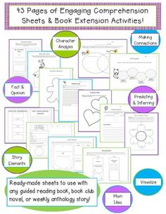 Guided Reading Comprehension & Book Extension Activities!