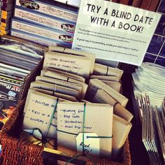 blind date - this would be a cute favor idea for a book swap party