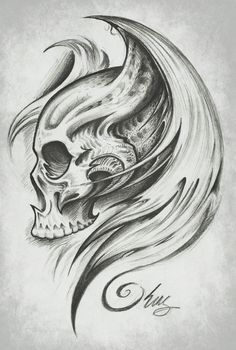 Skull Wings by J-King-21.deviantart.com
