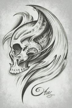Skull Wings by J-King-21.deviantart.com