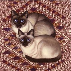 Sue Wall. Siamese. This connects to other art by this artists.