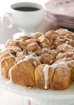 Pull-Apart Coffee Cake – Drizzled with glaze and topped with toasted pecans, this pull-apart coffee cake looks like it came from a bakery. Wait until they find out you made the recipe!