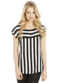 F Stripe Cut About Shell Top