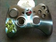 Halo 4 painted xbox controller