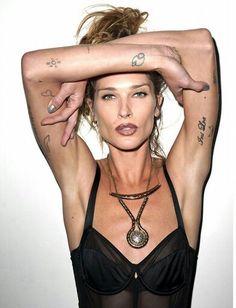Erin Wasson tattoo placement